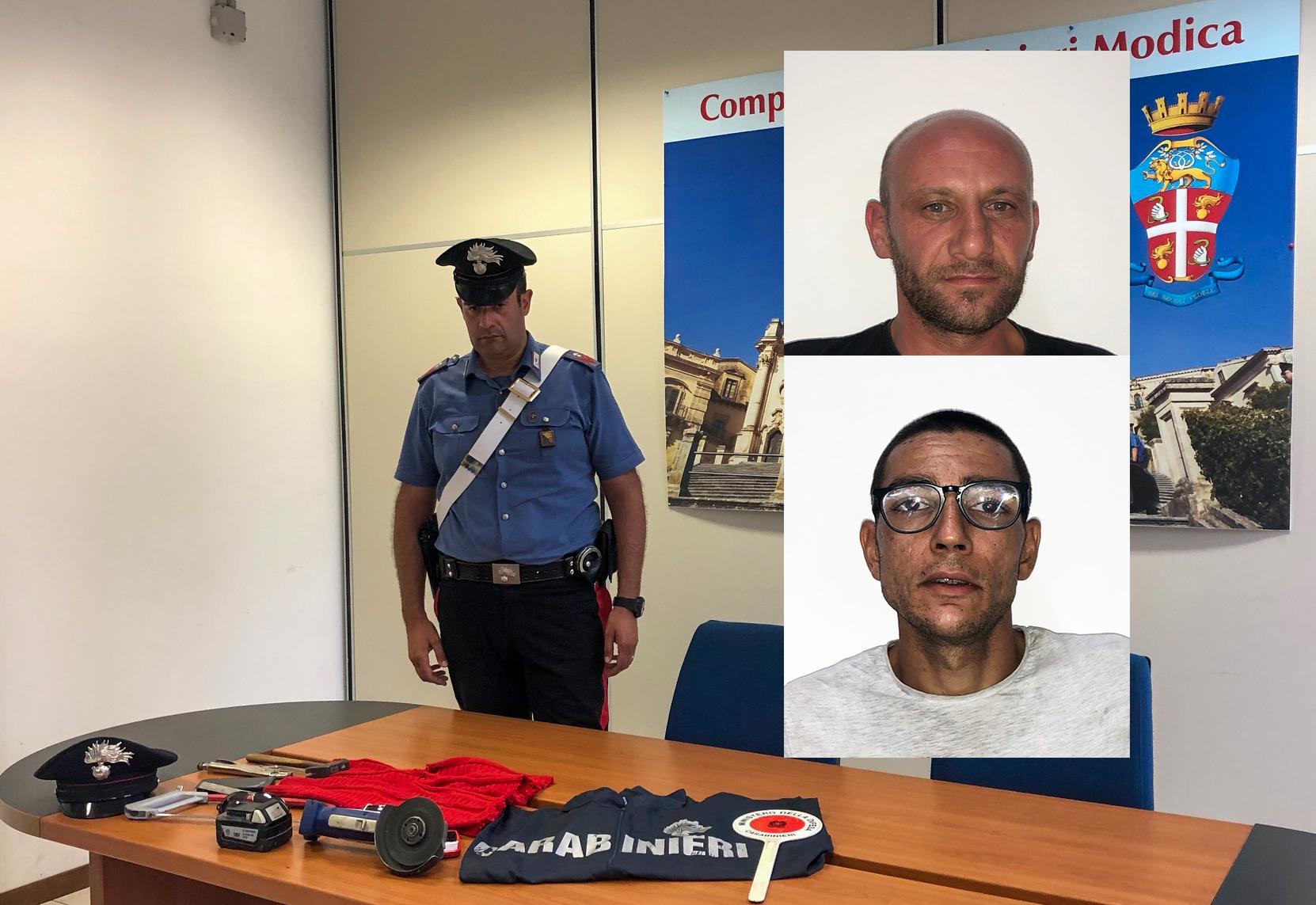 Tentano un colpo a  bar-tabacchi di Ispica: catturati 2  malviventi di Pachino