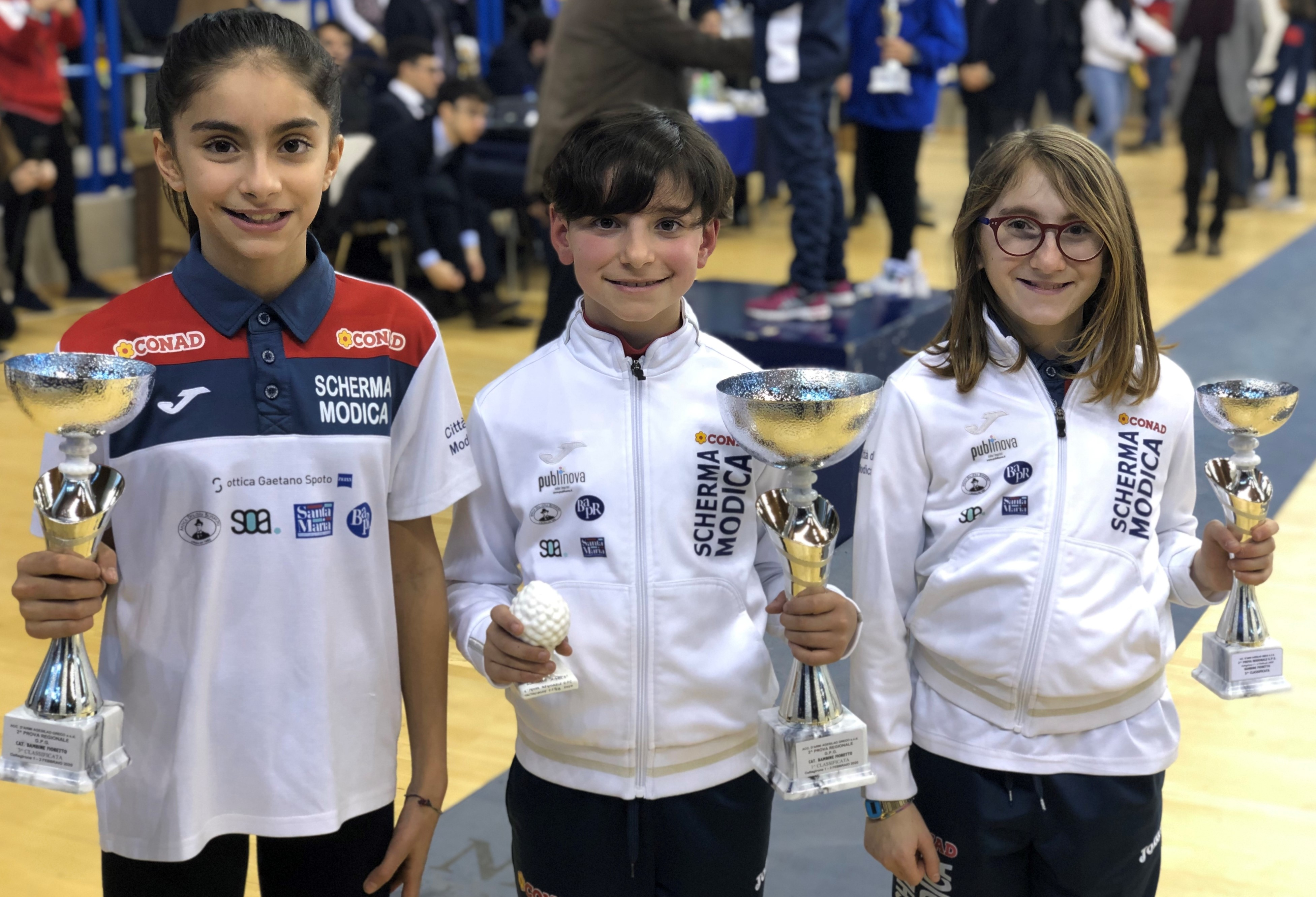 Scherma Modica, due medaglie d'oro per gli Under 14 al Gran Premio di Caltagirone