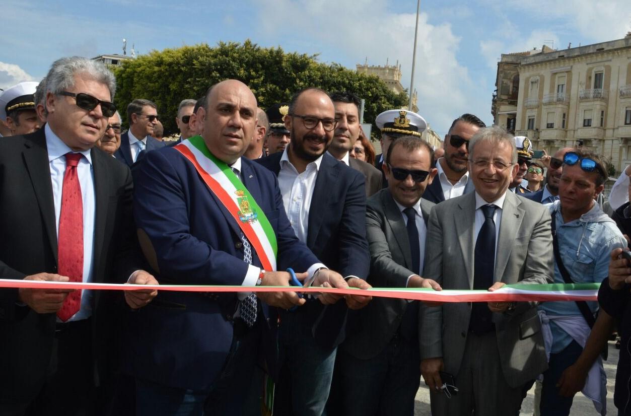 Siracusa, inaugurata la nuova banchina del Foro italico