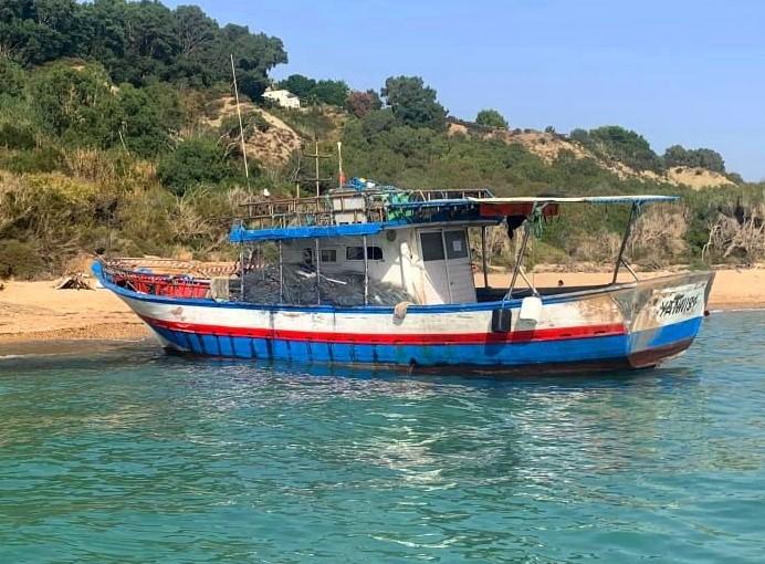 Ribera, trasferita la barca utilizzata da gruppo di migranti