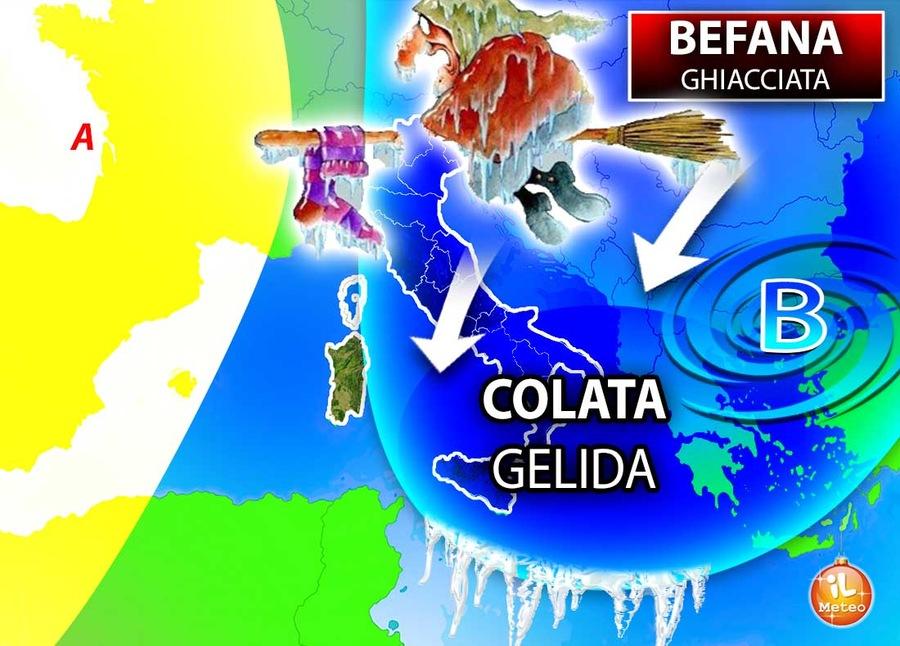 Meteo, la Befana porta aria polare: instabilità sarà limitata