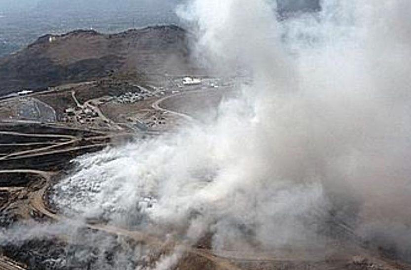 Palermo, scoppia  incendio nella discarica di Bellolampo