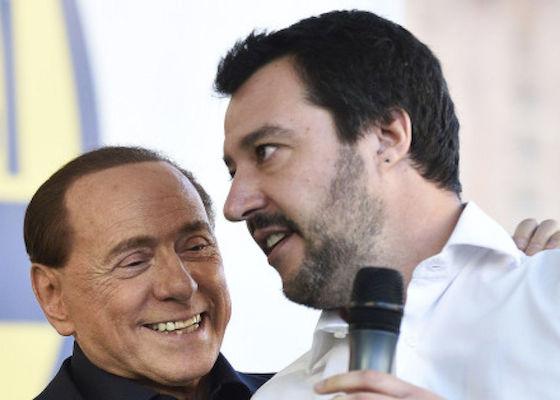 """Salvini a Berlusconi: """"M5S non è il male assoluto"""""""