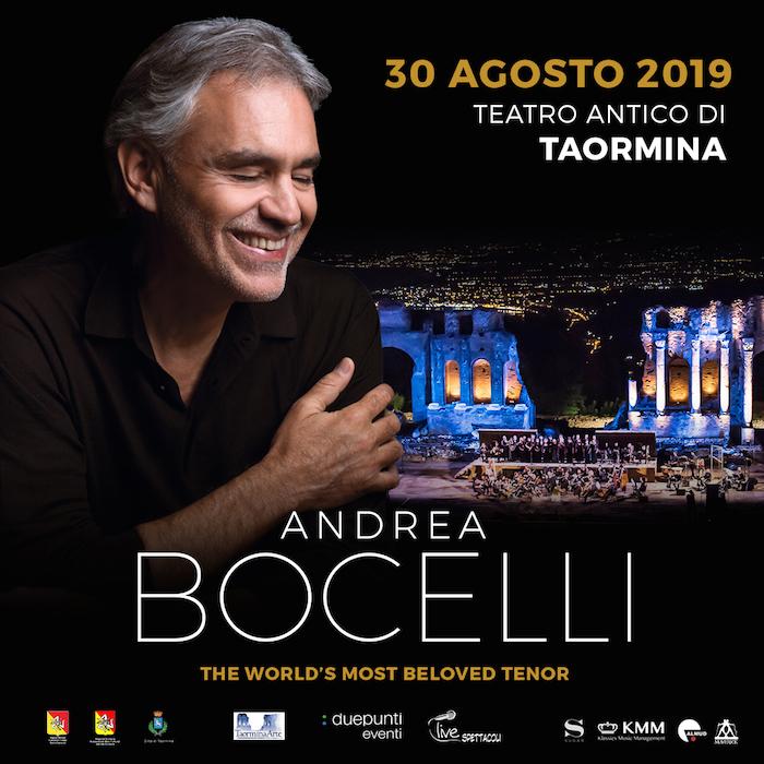 Musica, Andrea Bocelli in concerto al Teatro Antico di Taormina