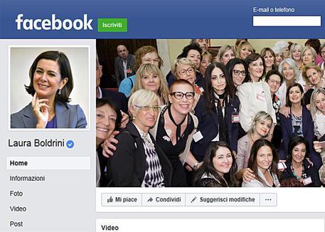 "Boldrini: ""Denuncerò chi mi insulta su Facebook"""