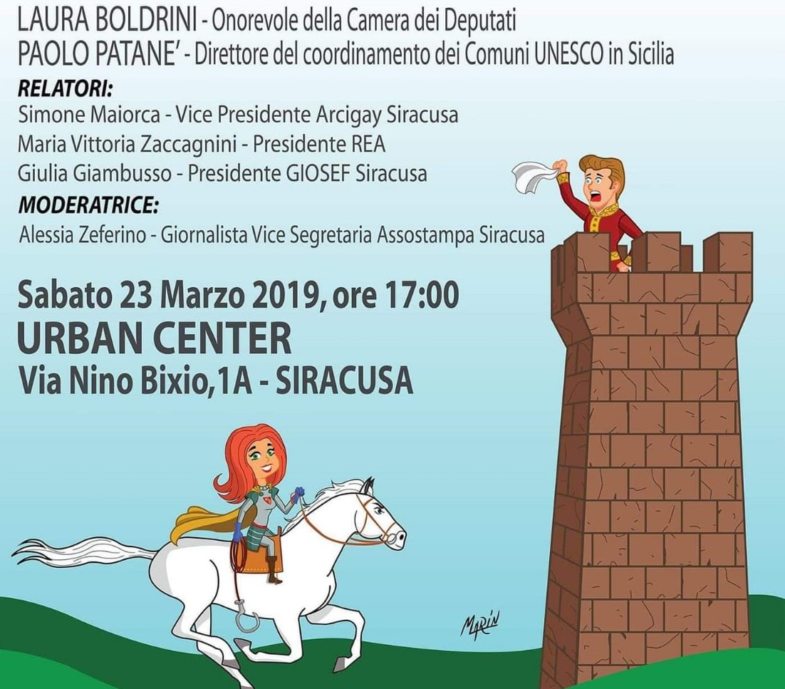 "Siracusa, all'Urban Center convegno ""I principessi e le cavaliere"""