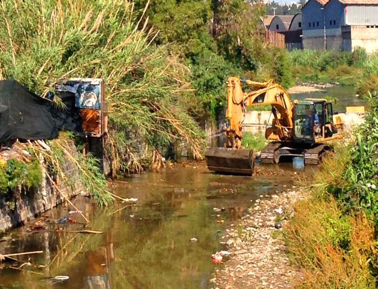 Catania: pulizia dei torrenti Acquicella, Arci, Forcile e Acqua Santa