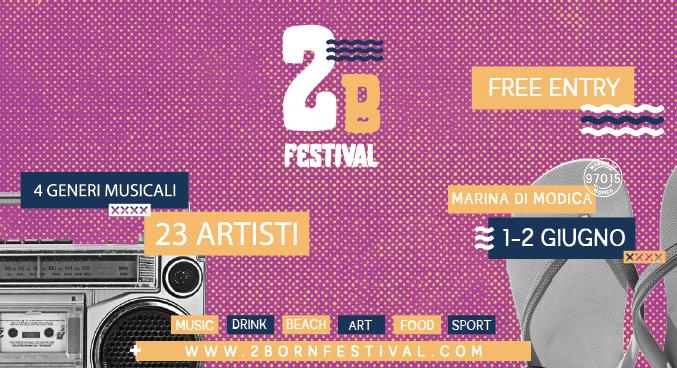 """Modica, a Marina fine settimana  animato da """"2Born Festival"""": musica, cibo e sport"""