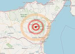 Scossa di terremoto a Sud di Bronte di magnitudo 2.5
