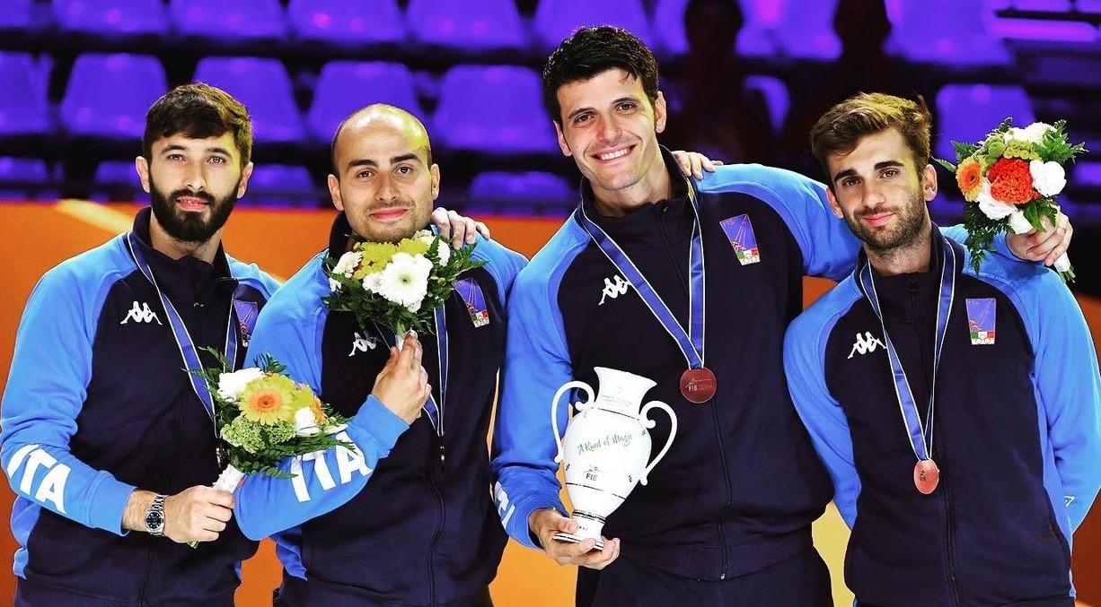 Scherma, Giorgio Avola medaglia di bronzo a squadre ai Mondiali di Budapest 2019