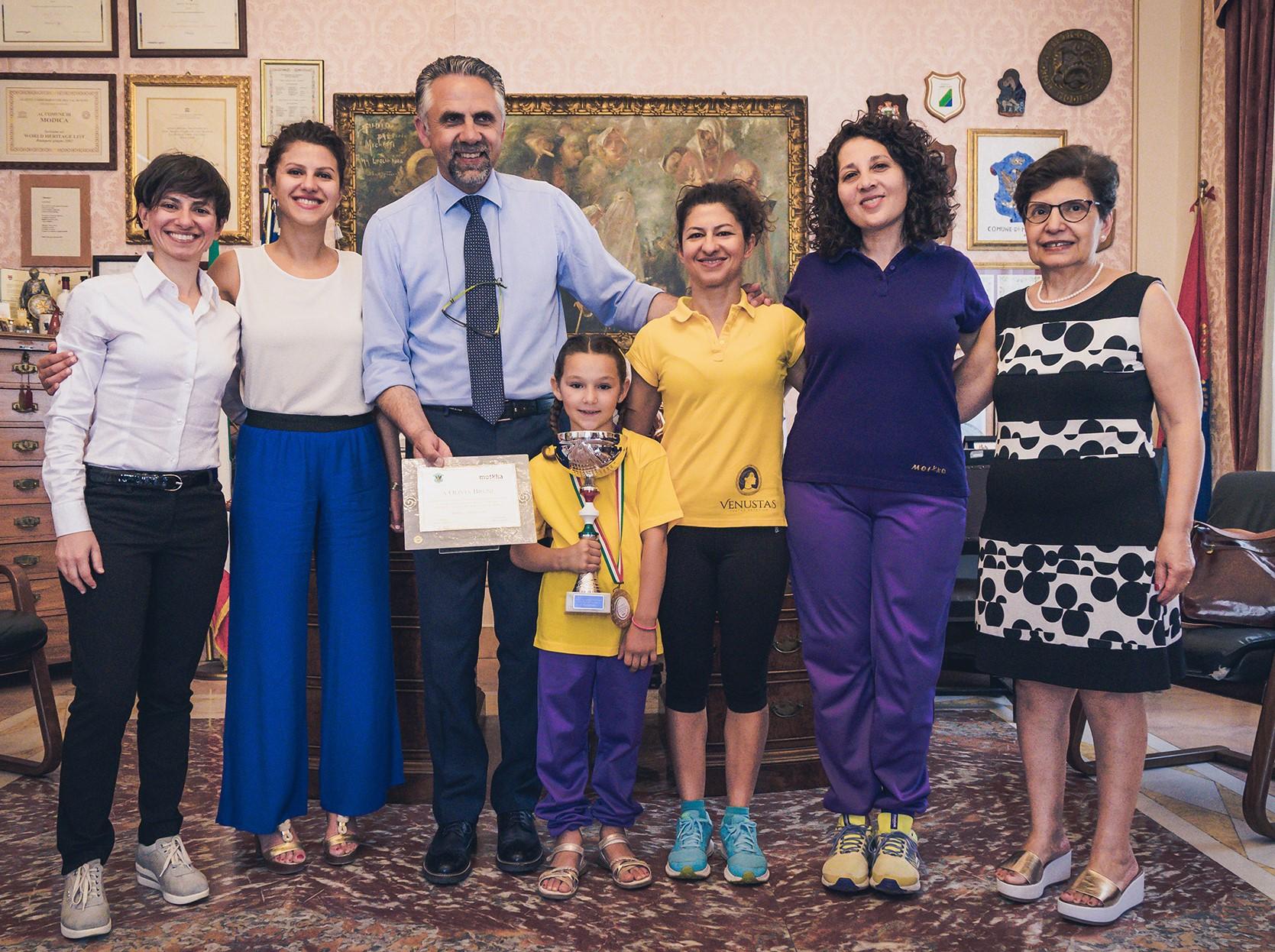 Modica, ginnastica artistica: premiata la campionessa italiana Olivia Bruni