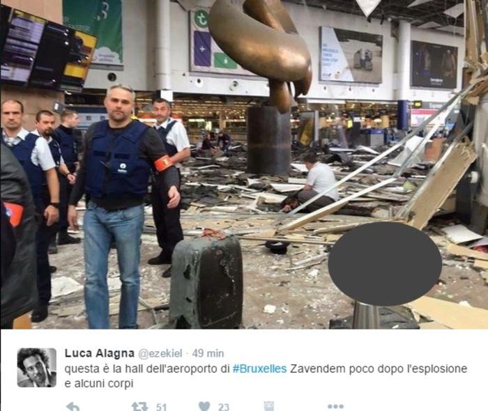 Bruxelles sotto attacco terroristico, esplosioni all'aeroporto ed alla metro: 34 i morti