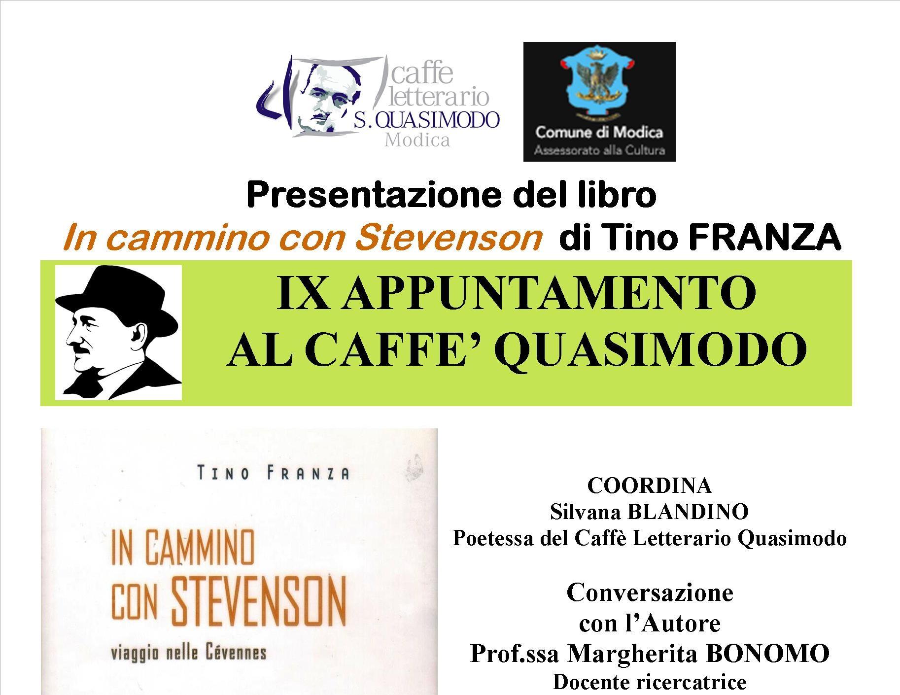Modica, Caffè Quasimodo: si presenta libro del netino di Tino Franza