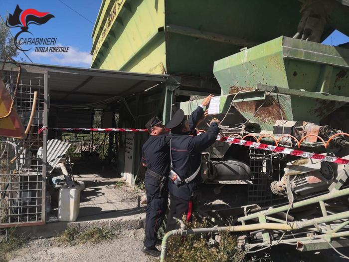 Sequestrato un impianto di calcestruzzo in provincia di Cosenza