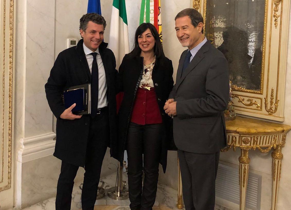 Il sindaco di Rapallo incontra a Palermo Musumeci e Leoluca Orlando