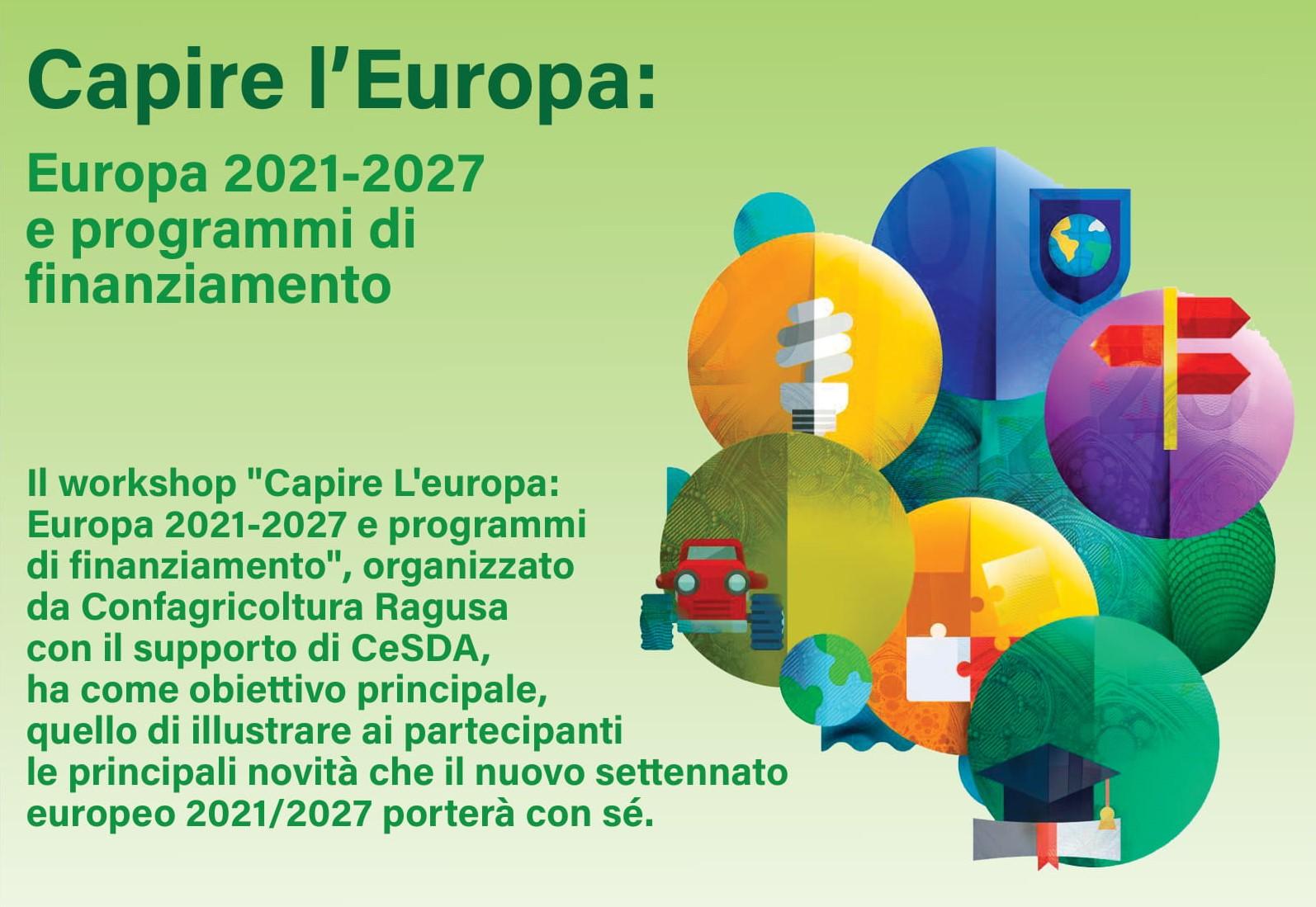 """Ragusa, """"Europa 2021-2027 e programmi di finanziamento"""": workshop di formazione"""