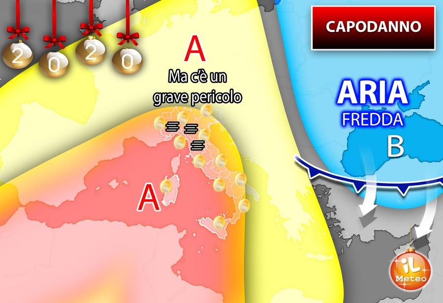 Capodanno con il bel tempo: l'anticiclone scaccia il freddo, nuvole in Sicilia