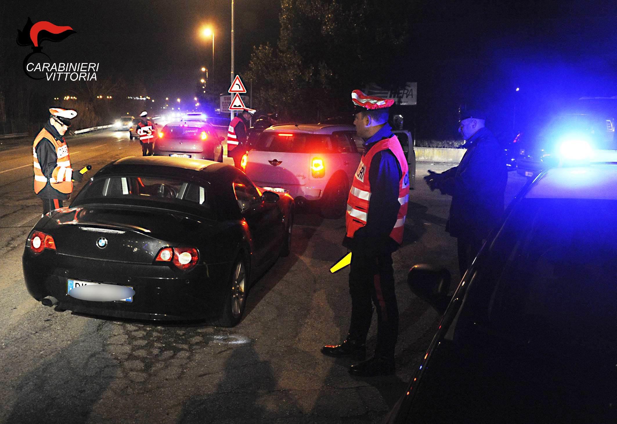 """Nel Ragusano, operazione """"Weekend sicuro"""" dei Carabinieri"""