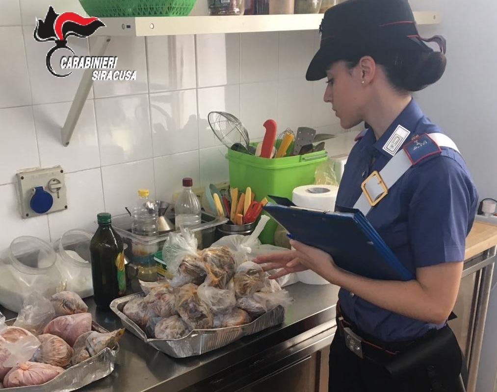 Carne e salsiccia congelata sequestrata a Sortino: multati 2 ristoratori