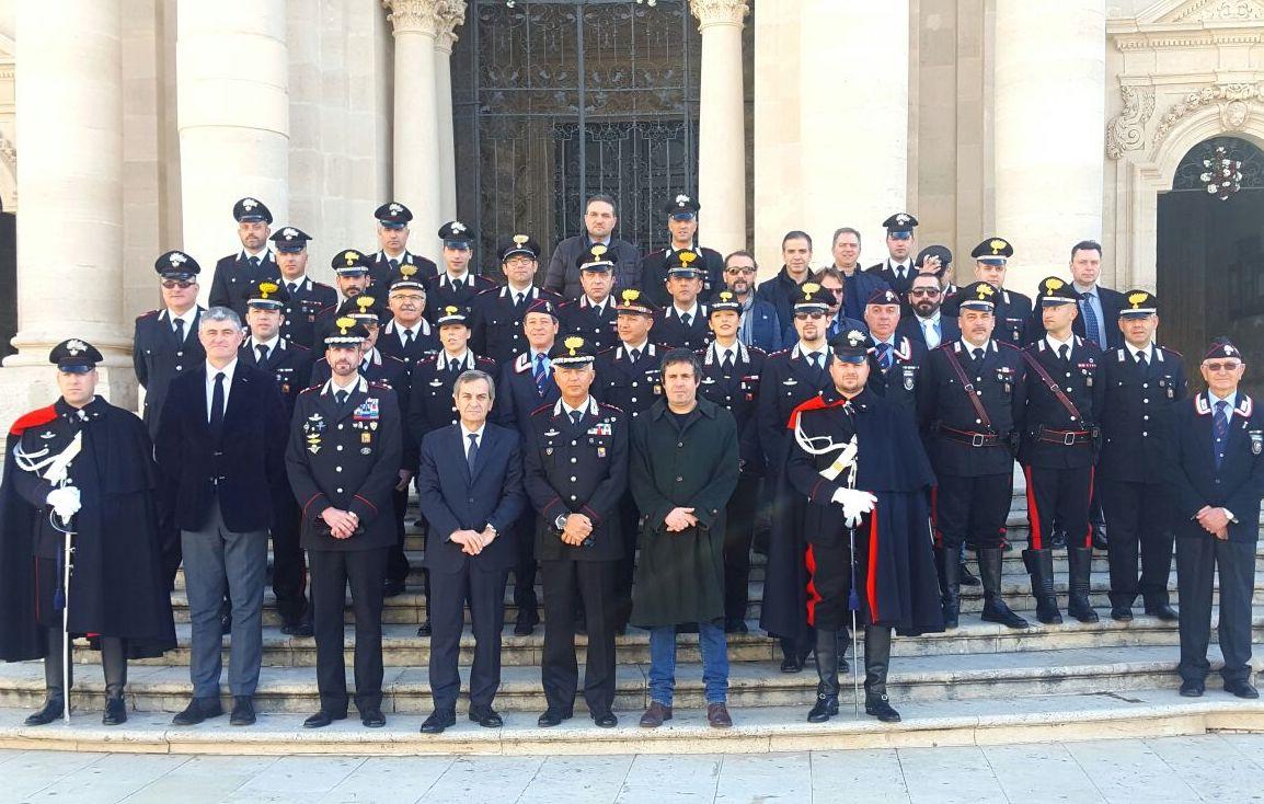 Siracusa, piazza Duomo location per gli auguri di Natale dei carabinieri