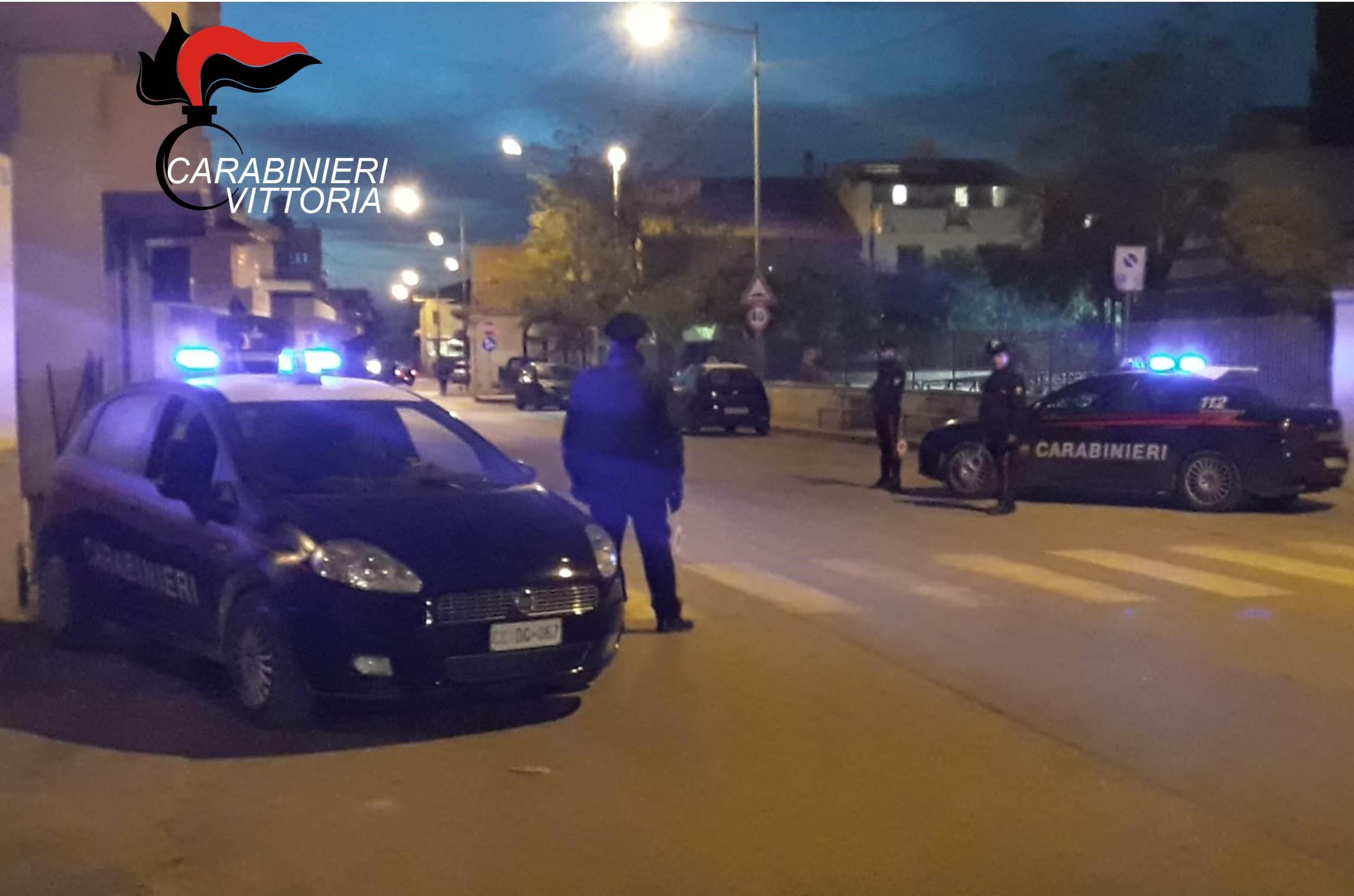 Vittoria, servizi di controllo dei carabinieri: il bilancio è di cinque arresti
