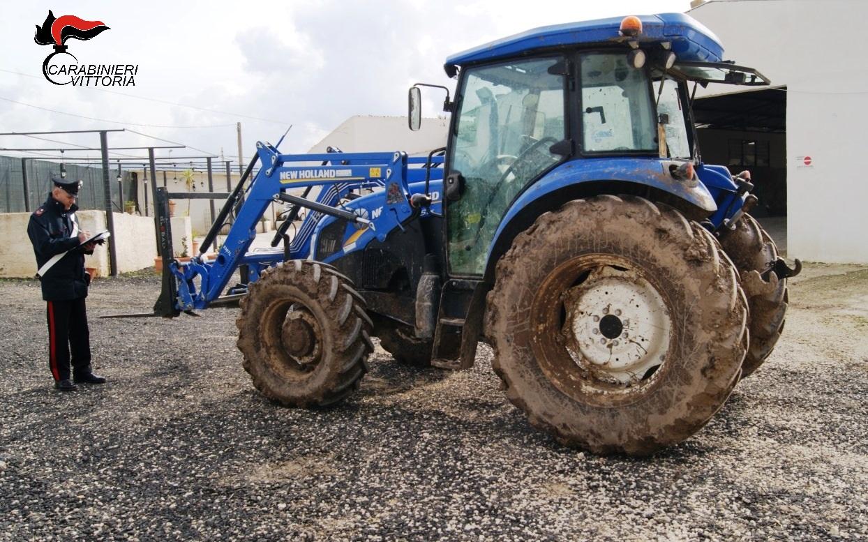 Vittoria, recuperati mezzi agricoli rubati del valore di oltre 10 mila euro