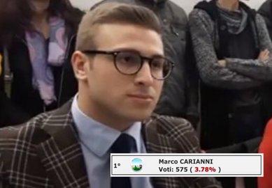 """Elezioni a Floridia, l'exploit di Marco """"enfant prodige"""" della politica"""