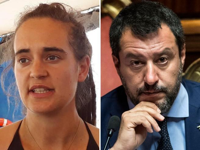 La querela di Carola Rackete contro Salvini sul tavolo di una Pm di Milano