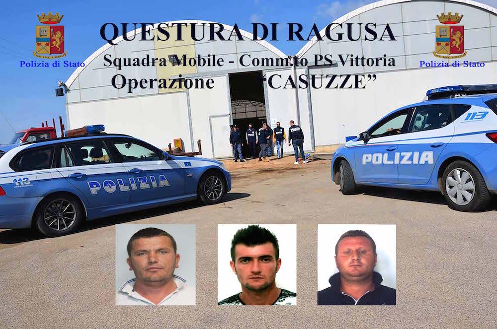 Droga, giro di cocaina a Marina di Ragusa: tre arresti