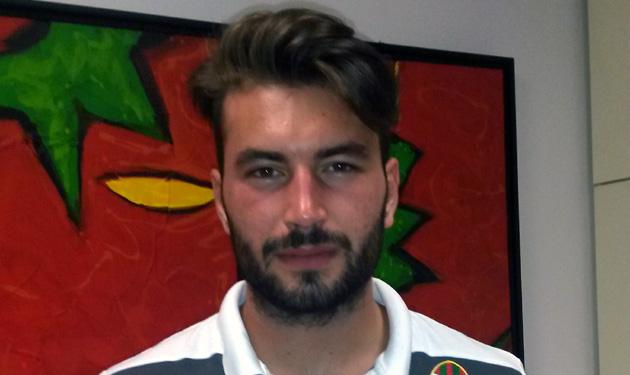 Il difensore Stefano Cason in prestito dall'Atalanta al Trapani
