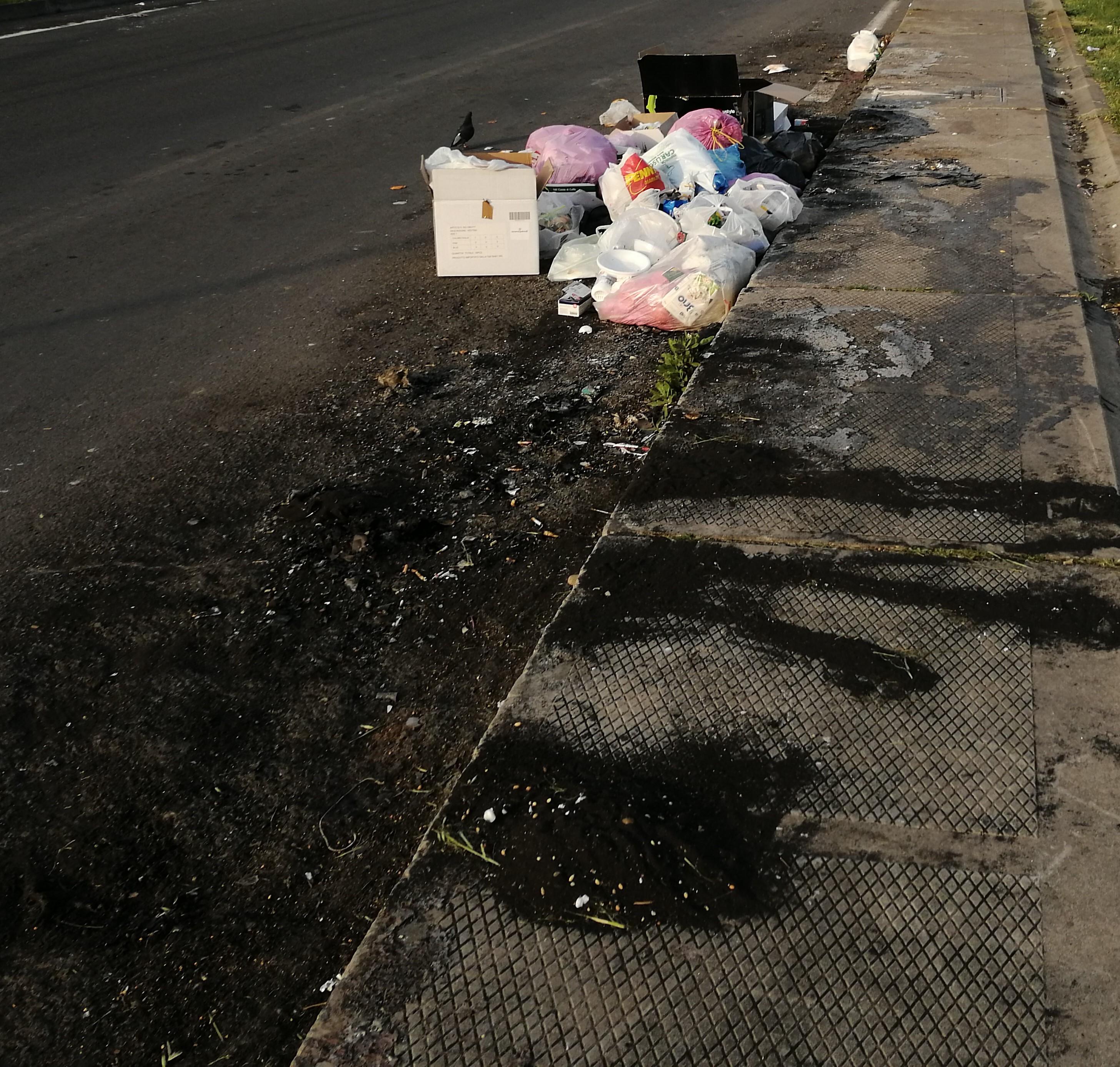 Cassonetti della spazzatura bruciati a Catania, il Pd: fermare lo scempio