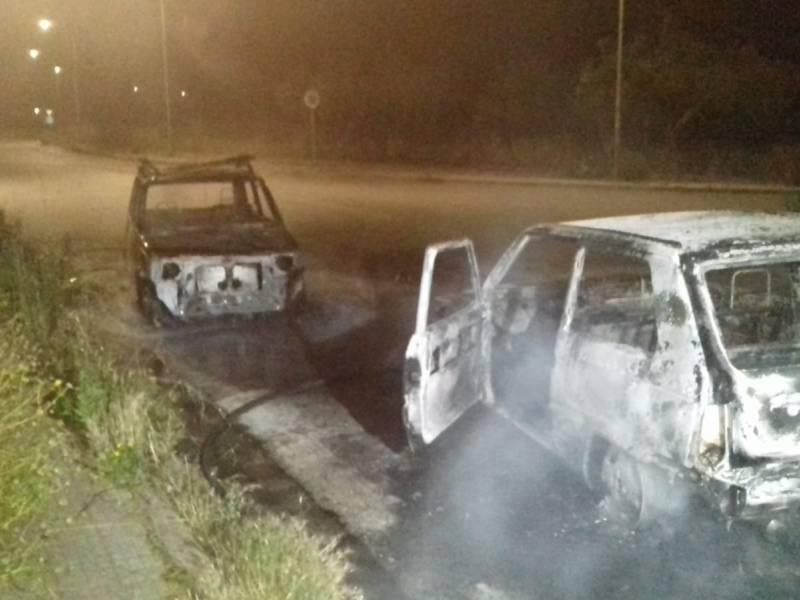 Due auto rubate la scorsa notte bruciate a Castelvetrano