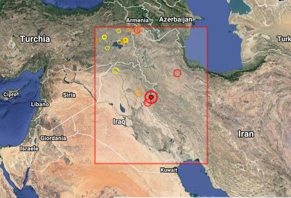 Iraq: sciame sismico al confine tra Iran e Iraq