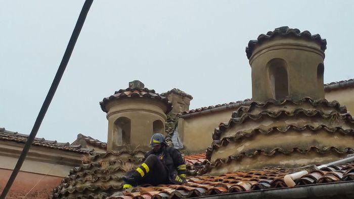 Fulmine danneggia la  Chiesa Madre di Caulonia nel Reggino