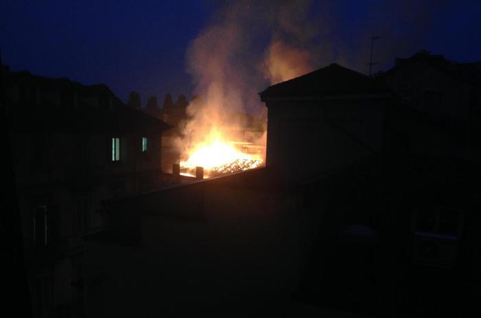 In fiamme  a Torino la Cavallerizza Reale patrimonio dell'Unesco