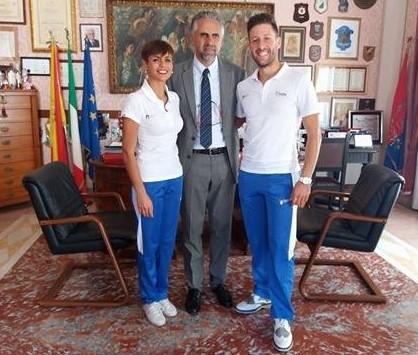 Modica, ricevuti dal sindaco i campioni di danza Cavallo e Polini