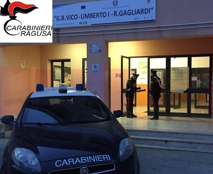 """Ragusa, sventato dai carabinieri un furto all'Istituto """"Gagliardi"""""""