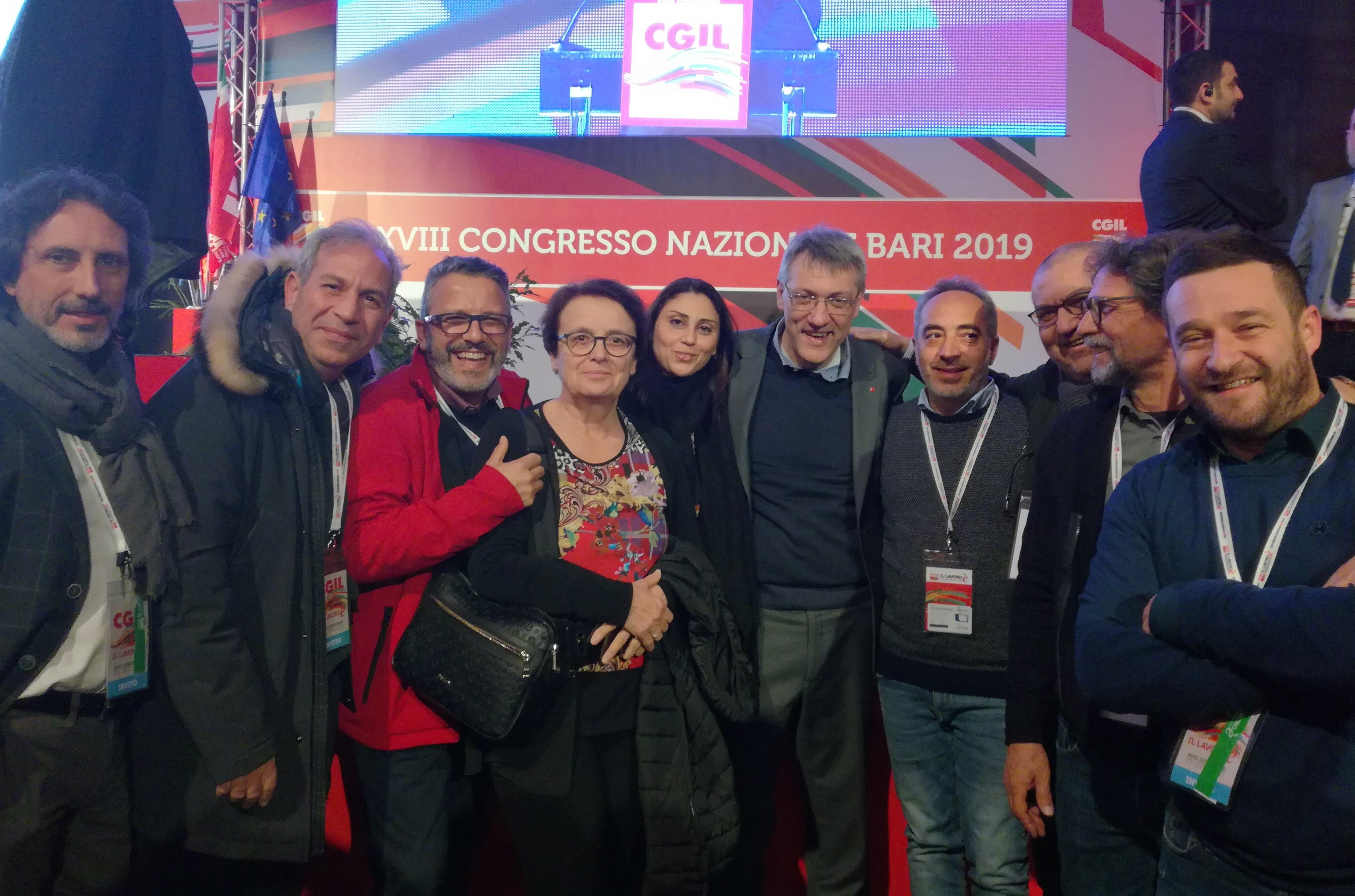 Delegazione iblea presente al congresso nazionale della Cgil a Bari