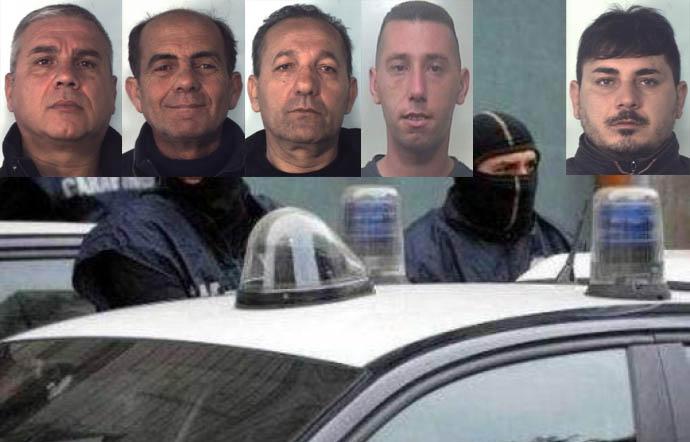 Cinque arresti nel Catanese e la