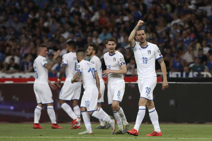 Europei 2020, tripletta degli azzurri alla Grecia: è bastato solo il primo tempo