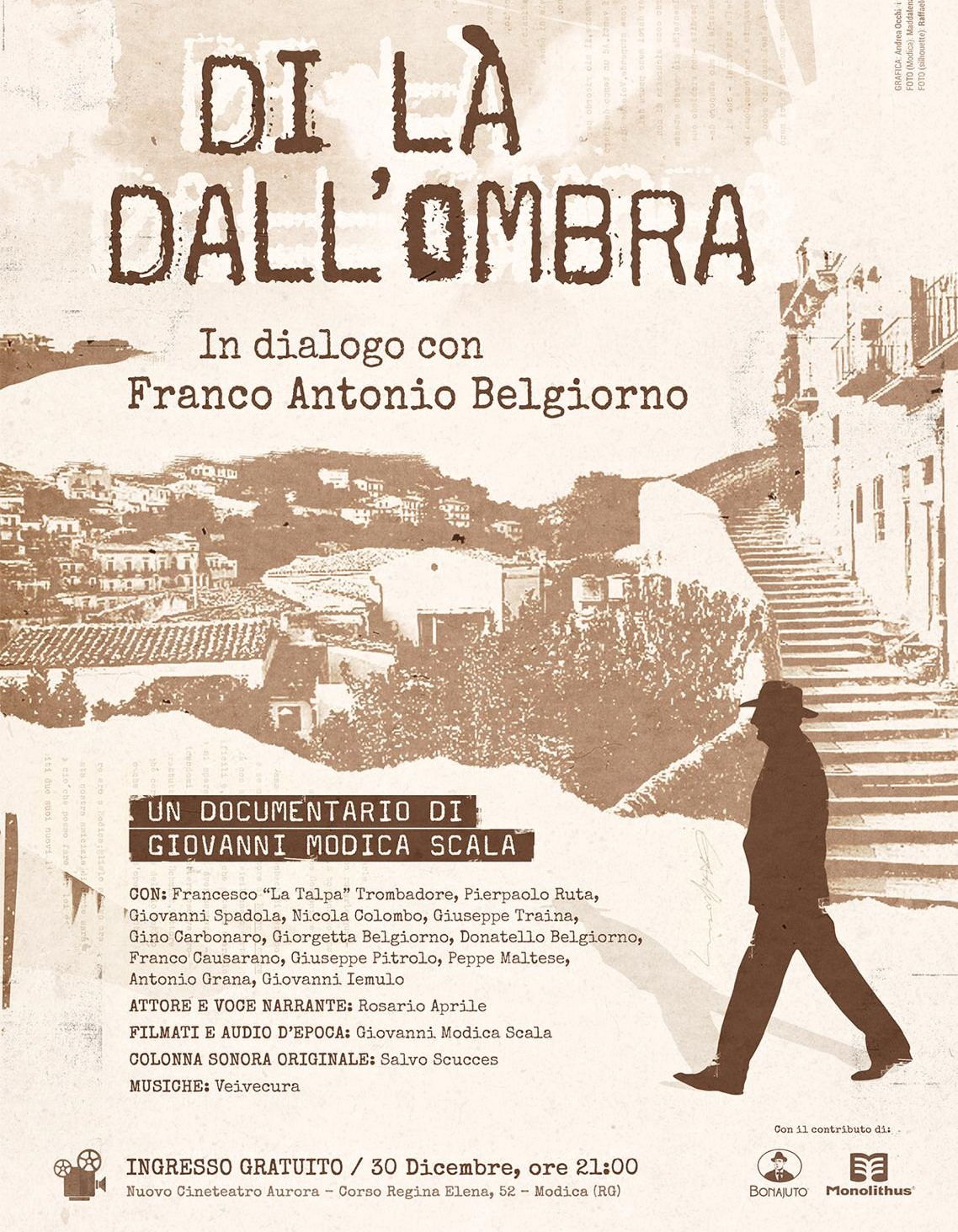 Modica, lunedì 30 al Cinema Aurora documentario su Franco Antonio Belgiorno