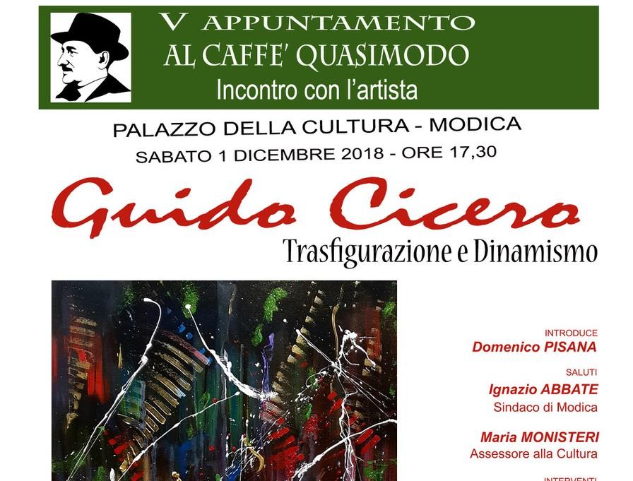 Modica, al Caffè Letterario Quasimodo serata dedicata a Guido Cicero