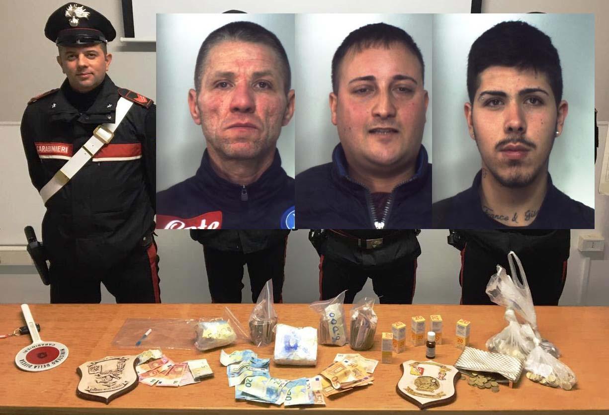 Tre presi sulla Catania - Gela con mezzo chilo di cocaina