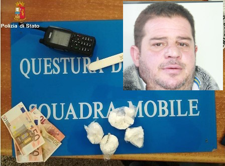 Droga, trovato con cocaina pronta allo spaccio: arrestato a Catania