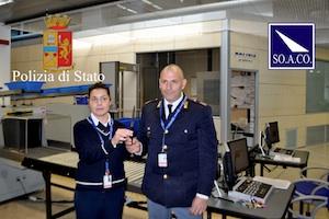 Giovane nisseno bloccato all'aeroporto di Comiso con un coltello