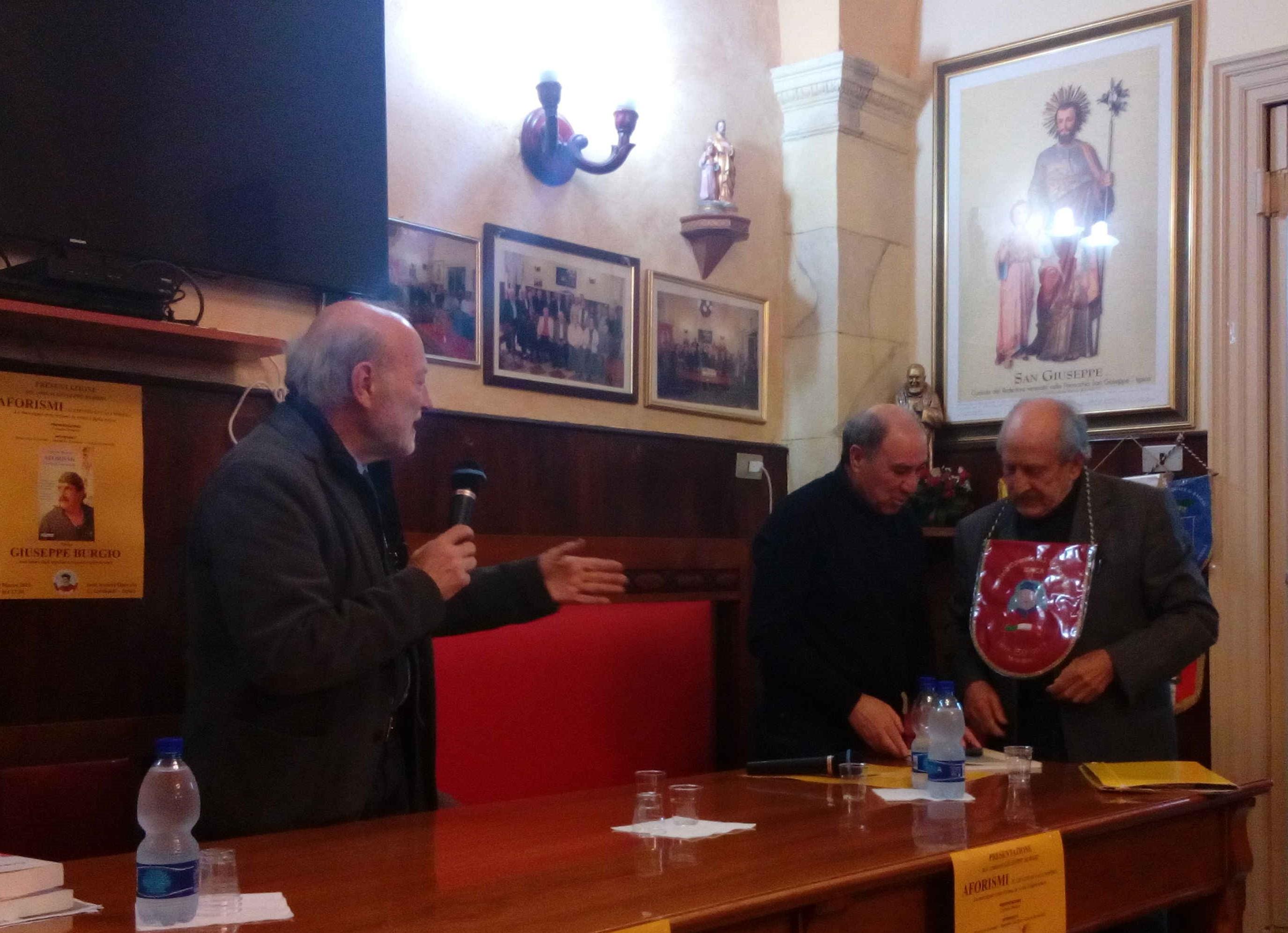 Ispica, alla Società Operaia presentati gli aforismi di Peppino Burgio