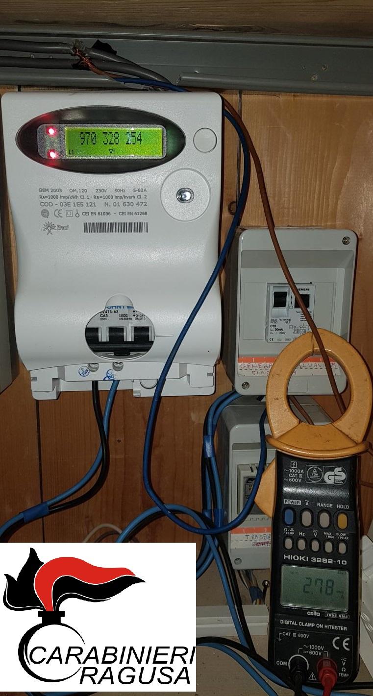 Ai domiciliari a Monterosso Almo per furto di energia