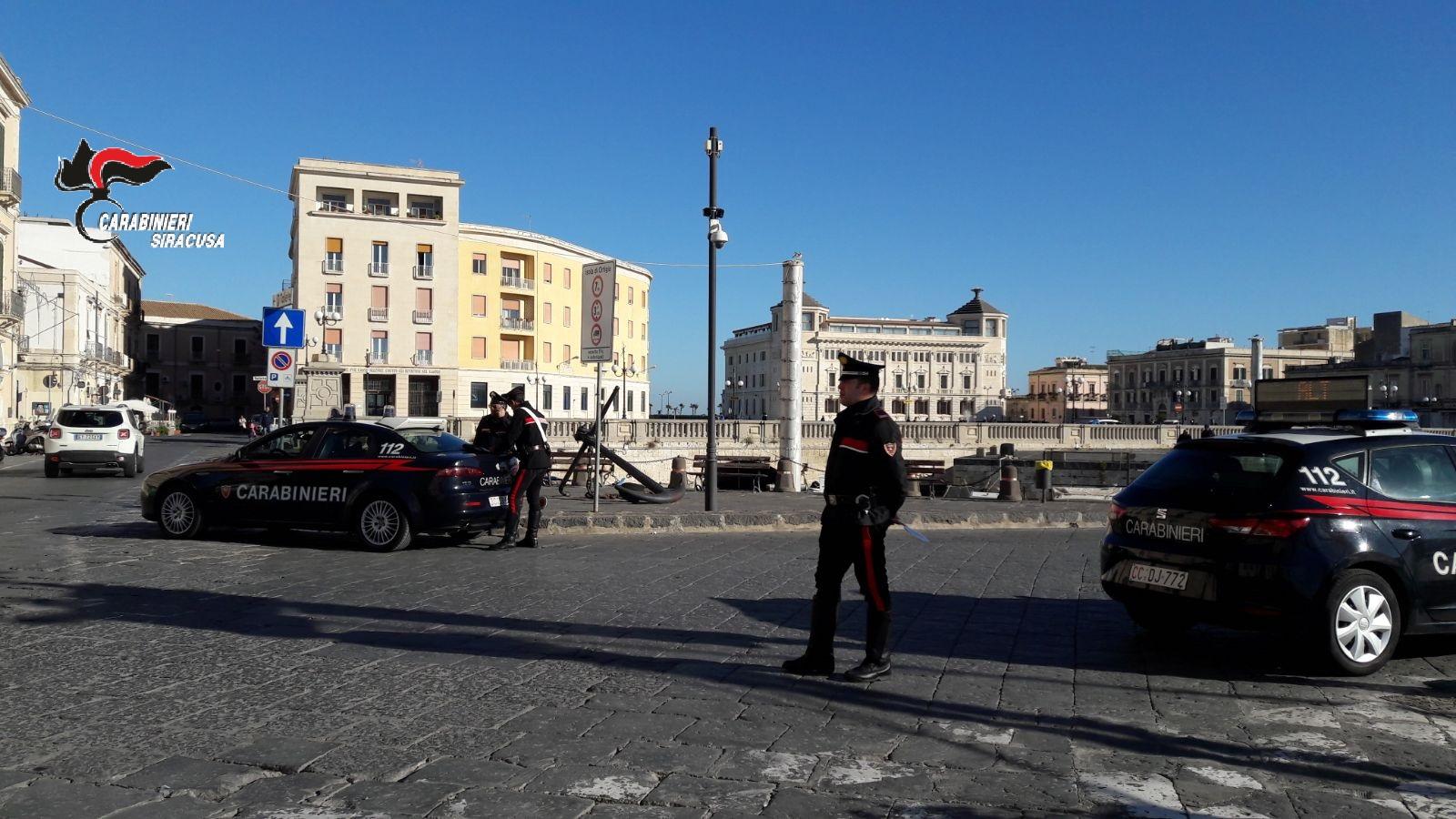 Controlli dei carabinieri per le festività, 29 arresti nel Siracusano