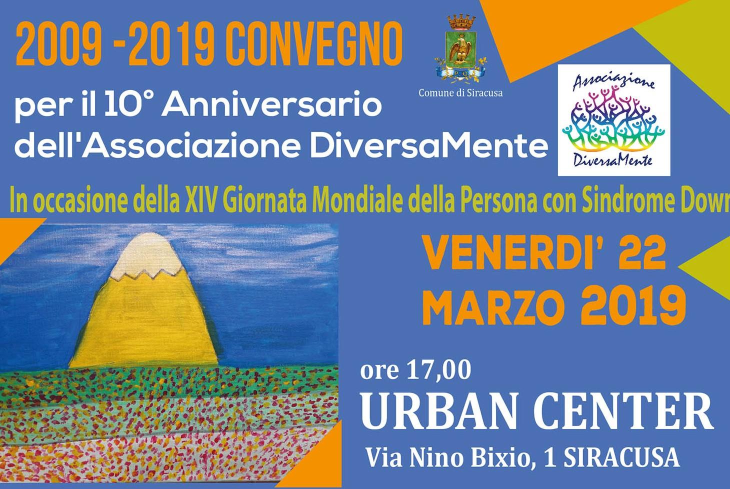 Siracusa, convegno per celebrare i 10 anni dell'associazione DiversaMente