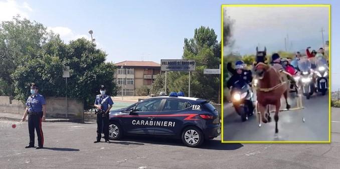 Camporotondo Etneo, 6 siracusani denunciati per corsa clandestina di cavalli